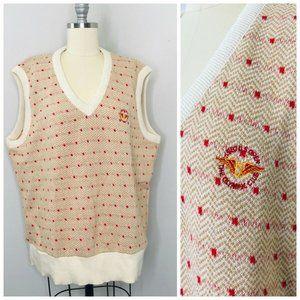 Vintage 1987 US Olympics Fairway Club Sweater Vest